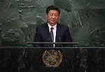 His Excellency Xi Jinping, President of the People&rsquo;s Republic of China  <br /> <br /> <br /> 6th plenary meeting High-level plenary meeting of the General Assembly (3rd meeting)
