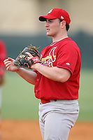 April 14, 2009:  Matthew (Matt) Rigoli of the St. Louis Cardinals extended spring training team during a game at Roger Dean Stadium Training Complex in Jupiter, FL.  Photo by:  Mike Janes/Four Seam Images