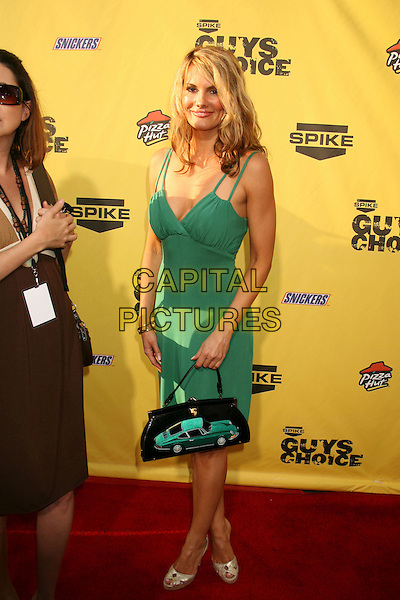 "COURTNEY HANSEN.Spike TV's ""Guy Choice"" Awards held at Radford Studios, Studio City, California, USA..June 9th, 2007.full length green dress black car bag purse .CAP/ADM/RE.©Russ Elliot/AdMedia/Capital Pictures"
