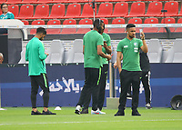Spieler von Saudi-Arabien begutachten den Platz - 08.06.2018: Deutschland vs. Saudi-Arabien, Freundschaftsspiel, BayArena Leverkusen