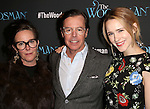 Kate Spade, Andy Spade and Rachel Brosnahan attends the Off-Broadway Opening Night Performance of 'The Woodsman' at The New World Stages on February 8, 2016 in New York City.