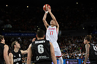 China&rsquo;s Minghui Sun in action during the FIBA World Cup Basketball Qualifier - NZ Tall Blacks v China at Spark Arena, Auckland, New Zealand on Sunday 1 July 2018.<br /> Photo by Masanori Udagawa. <br /> www.photowellington.photoshelter.com