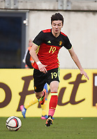 20170323 - BEVEREN , BELGIUM : Belgian Dennis Van Vaerenbergh pictured during the UEFA Under 19 Elite round game between Sweden U19 and Belgium U19, on the first matchday in group 7 of the Uefa Under 19 elite round in Belgium , thursday 23 th March 2017 . PHOTO SPORTPIX.BE | DIRK VUYLSTEKE