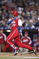 Alexei Ramirez of the Cuban national team during championship game against Japan during the World Baseball Championships at Petco Park in San Diego,California on March 20, 2006. Photo by Larry Goren/Four Seam Images