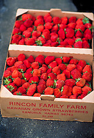 Fresh strawberries in a box
