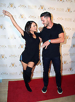 Janel Parrish, Val Chmerkovskiy<br /> Dance With Me USA Grand Opening, Dance With Me Studio, Sherman Oaks, CA 09-10-14<br /> David Edwards/DailyCeleb.com 818-249-4998