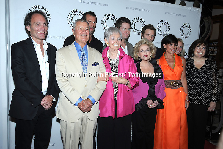 Executive Producer Chris Goutman, Don Hastings, Austin Peck, Kathryn Hays,Trent Dawson, Eileen Fulton,Van Hansis, Colleen Zenk Pinter, Terri Columbino and headwriter Jean Passanante  attending the Farewell to As the World Turns at the Paley Center for Media on August 18, 2010 in New York City.