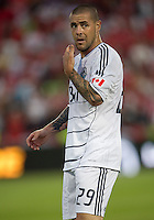 Vancouver FC forward Eric Hassli #29 in action during an MLS game between the Vancouver Whitecaps FC and the Toronto FC at BMO Field in Toronto on June 29, 2011..Toronto FC won 1-0..
