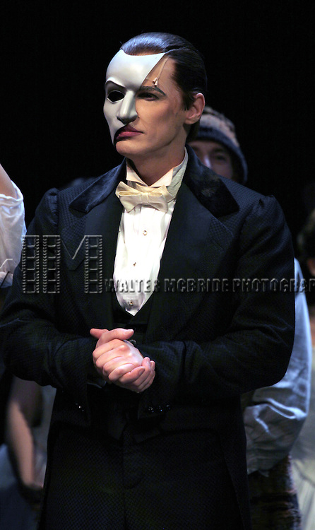 Hugh Panaro during the 'Phantom of the Opera' - 25 Years on Broadway Gala Performance Curtain Call Celebration at the Majestic Theatre in New York City on 1/26/2013