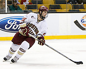 Joe Whitney (BC - 15) - The Boston College Eagles defeated the Harvard University Crimson 6-0 on Monday, February 1, 2010, in the first round of the 2010 Beanpot at the TD Garden in Boston, Massachusetts.