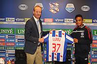 VOETBAL: HEERENVEEN: Abe Lenstra stadion 18-08-2014, Presentatie Jeroen Lumu bij SC Heerenveen, ©foto Martin de Jong
