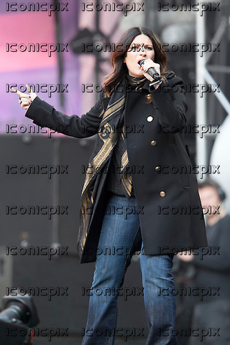 Laura Pausini - performing live at the Sound of Change Live concert held at Twickenham Stadium Surrey UK - 01 Jun 2013.  Photo credit: John Rahim/Music Pics Ltd/IconicPix