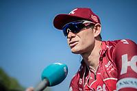 Alexander Kristoff (NOR/Katusha-Alpecin) interviewed pre-race<br /> <br /> 115th Paris-Roubaix 2017 (1.UWT)<br /> One Day Race: Compiègne › Roubaix (257km)