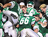 Seaford varsity football teammates celebrate after their 20-0 win over Carle Place-Wheatley in the Nassau County Conference IV final at Hofstra University on Saturday, Nov. 19, 2016.