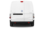Straight rear view of a 2015 Nissan NV200 Optima 4 Door Cargo Van 2WD Rear View  stock images