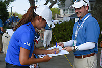 Gina Kim (a)(USA) signs autographs following round 4 of the 2019 US Women's Open, Charleston Country Club, Charleston, South Carolina,  USA. 6/2/2019.<br /> Picture: Golffile | Ken Murray<br /> <br /> All photo usage must carry mandatory copyright credit (© Golffile | Ken Murray)