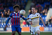 24th March 2018, McDiarmid Park, Perth, Scotland; Scottish Football Challenge Cup Final, Dumbarton versus Inverness Caledonian Thistle; Collin Seedorf of Inverness Caledonian Thistle challenged by Tom Walsh of Dumbarton