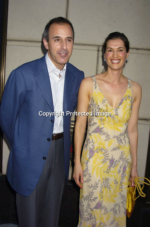 "Matt Lauer and wife Annette Lauer ..at a Book party for Madonna's new book ""Lotsa De Casha"" ..on June 7, 2005 at Bergdorf Goodman. ..Photo by Robin Platzer, Twin Images"