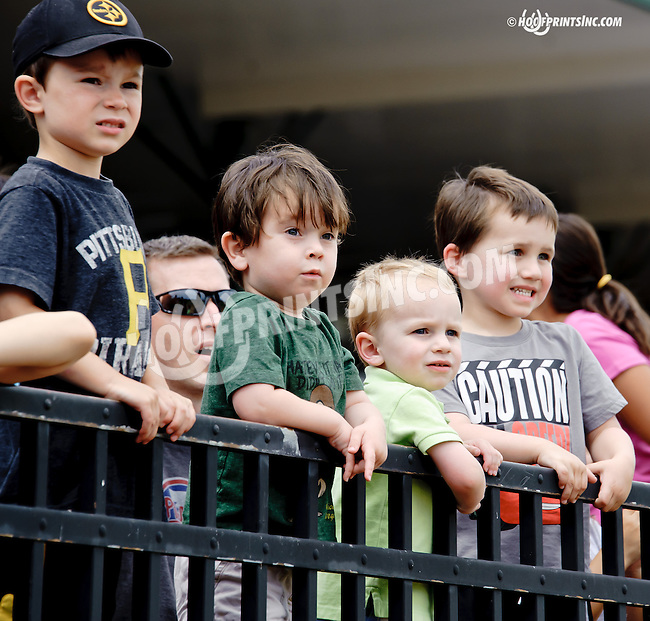 Kids at Delaware Park racetrack on 6/21/14