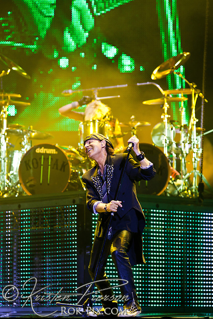 Scorpions perform at Mohegan Sun Arena, July 9, 2012.