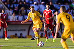 Jackson Irvine of Australia in action during the AFC Asian Cup UAE 2019 Group B match between Palestine (PLE) and Australia (AUS) at Rashid Stadium on 11 January 2019 in Dubai, United Arab Emirates. Photo by Marcio Rodrigo Machado / Power Sport Images
