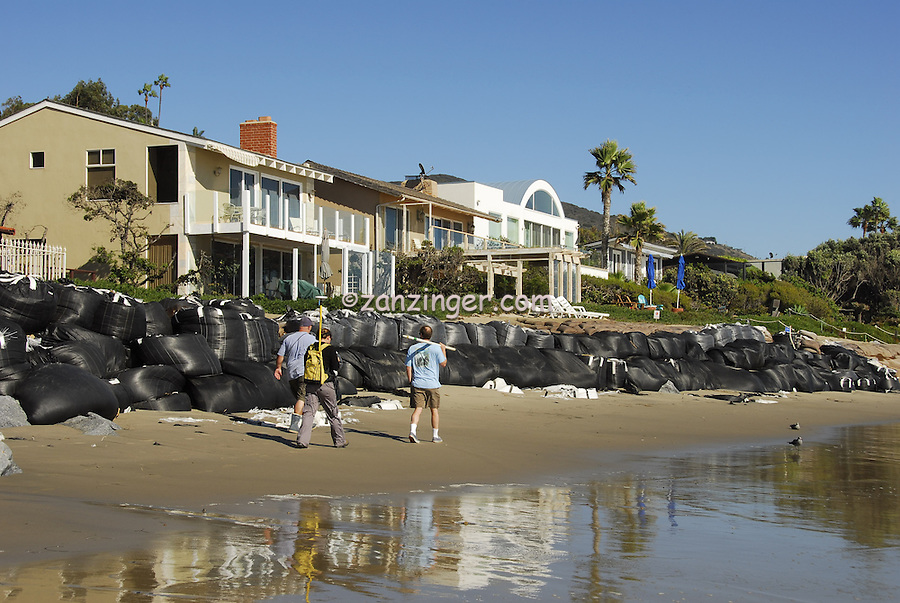 Broad Beach Rd, Malibu, CA, Beach Erosion,  Luxury, Oceanfront, Beach, Houses, low tide, Los Angeles, CA