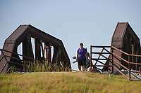 Caroline Hedwall (SWE) makes her way across the bridge near the tee on 2 during the round 3 of the Volunteers of America Texas Classic, the Old American Golf Club, The Colony, Texas, USA. 10/5/2019.<br /> Picture: Golffile   Ken Murray<br /> <br /> <br /> All photo usage must carry mandatory copyright credit (© Golffile   Ken Murray)