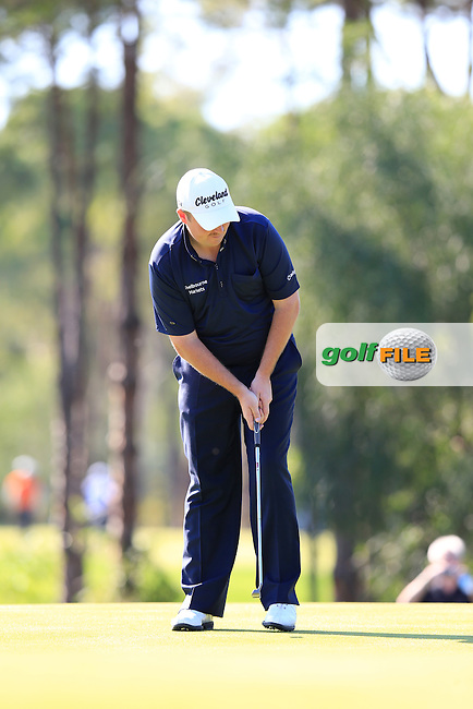 Shane LOWRY (IRL) with his borrowed pro shop putter on the 13th during round 2 of the Turkish Airlines Open presented by the Ministry of Tourism and Culture, hosted at the The Montgomerie Maxx Royal,Antalya,Turkey.<br /> Picture: Fran Caffrey www.golffile.ie