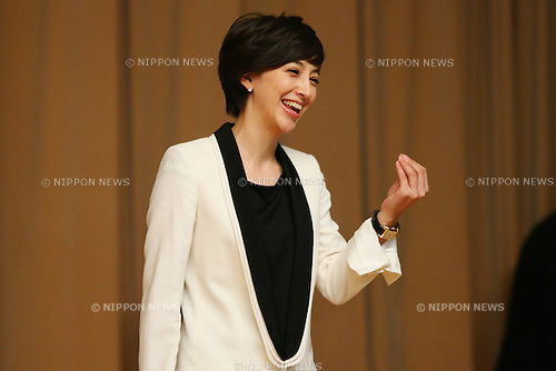 Christel Takigawa, <br /> September10, 2013  : <br /> International Olympic Committee (IOC) session return home press conference <br /> in Shinjuku, Tokyo, Japan. <br /> (Photo by Daiju Kitamura/AFLO SPORT)