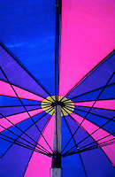 Colorful beach umbrellas in Asia