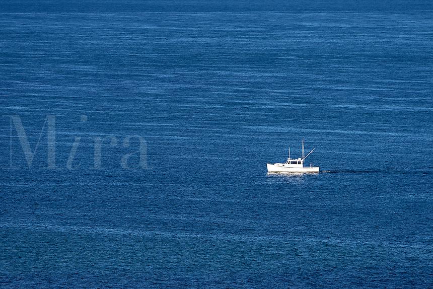 Recreational fishing boat off the coast of Martha's Vineyard, Massachusetts, USA