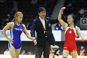 (L) Miyu Yamamoto, (R) Eri Tosaka, DECEMBER 22, 2011 - Wrestling : All Japan Wrestling Championship Women's Free Style -48kg at 2nd Yoyogi Gymnasium, Tokyo, Japan. (Photo by YUTAKA/AFLO SPORT) [1040]