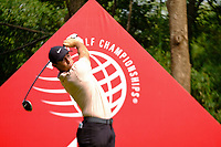 Rory McIlroy (NIR) on the 9th tee during the 2nd round at the WGC HSBC Champions 2018, Sheshan Golf CLub, Shanghai, China. 26/10/2018.<br /> Picture Fran Caffrey / Golffile.ie<br /> <br /> All photo usage must carry mandatory copyright credit (&copy; Golffile | Fran Caffrey)