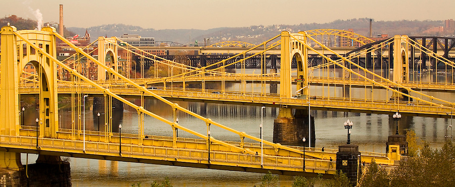 Pittsburgh Bridges - Three Sisters over the Allegheny