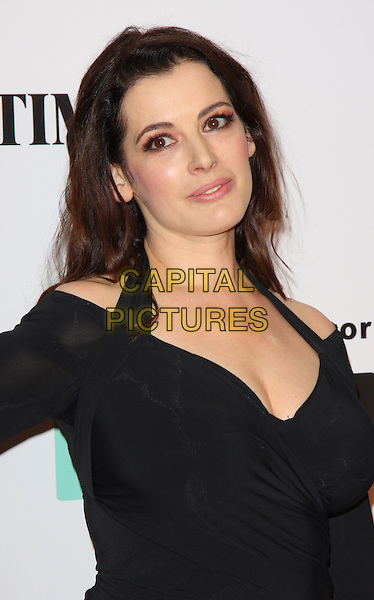 NIGELLA LAWSON .Attending the Saatchi Gallery Re-Launch Party, Kings Road, London, England, UK, .October 7th 2008.portrait headshot black halterneck .CAP/ROS.©Steve Ross/Capital Pictures