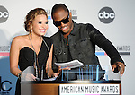 Demi Lovato and Taio Cruz at The 2010 American Music Award Nomination Announcements held at The JW Marriott Los Angeles at L.A. Live in Los Angeles, California on October 12,2010                                                                               © 2010 Hollywood Press Agency