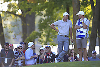 Henrik Stenson (Team Europe) on the 12th during Saturday afternoon Fourball at the Ryder Cup, Hazeltine National Golf Club, Chaska, Minnesota, USA.  01/10/2016<br /> Picture: Golffile | Fran Caffrey<br /> <br /> <br /> All photo usage must carry mandatory copyright credit (&copy; Golffile | Fran Caffrey)