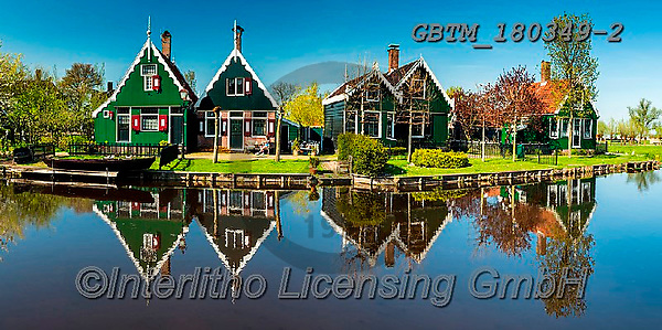 Tom Mackie, LANDSCAPES, LANDSCHAFTEN, PAISAJES, photos,+Dutch, Europa, Europe, European, Holland, Netherlands, Tom Mackie, Zaanse Schans, blue, building, buildings, canal, canals, c+olor, colorful, colour, colourful, green, heritage, historic, horizontal, horizontals, house, houses, landscape, landscapes,+museum, panorama, panoramic, reflecting, reflection, reflections, scenery, scenic, tourist attraction, traditional, water, wa+ter's edge, waterside,Dutch, Europa, Europe, European, Holland, Netherlands, Tom Mackie, Zaanse Schans, blue, building, build+,GBTM180349-2,#l#, EVERYDAY