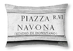 Roma Sign - Throw Pillow Sold on FAA.<br /> <br /> More products available at http://fineartamerica.com/profiles/paul-woodford.html<br /> <br /> to see more of our images from Italy - <br /> http://widescenes.photoshelter.com/gallery/Italy/G0000tmjFL0iSGKU/C0000Hkk_HG89Byc