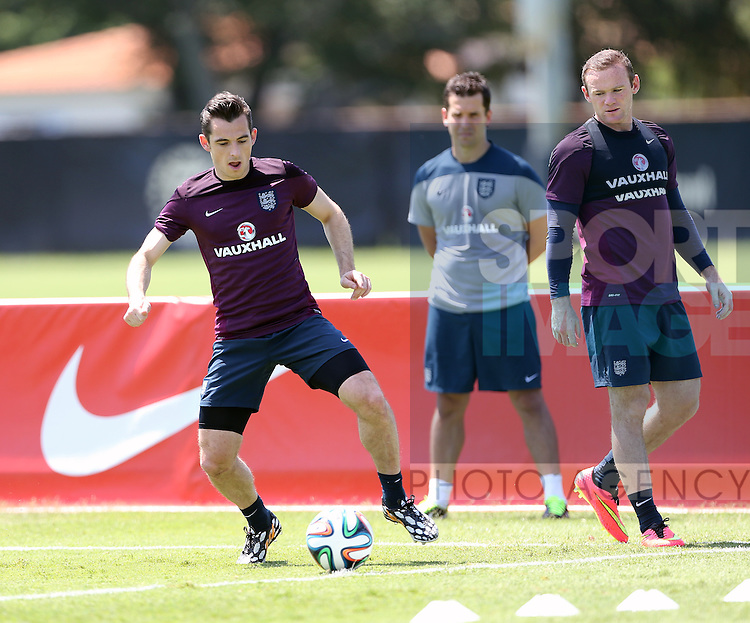 England's Leighton Baines in action during training<br /> <br /> England Training &amp; Press Conference  - Barry University - Miami - USA - 06/06/2014  - Pic David Klein/Sportimage