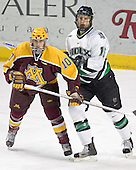 Alex Goligoski, Travis Zajac - The University of Minnesota Golden Gophers defeated the University of North Dakota Fighting Sioux 4-3 on Saturday, December 10, 2005 completing a weekend sweep of the Fighting Sioux at the Ralph Engelstad Arena in Grand Forks, North Dakota.