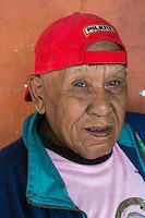 Borobudur, Java, Indonesia.  Rural Javanese Man in Baseball Cap.