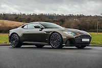 BNPS.co.uk (01202 558833)<br /> Pic: SilverstoneAuctions/BNPS<br /> <br /> Stunning Aston Martin 'James Bond' supercar with only 45 miles on the clock - yours for £300,000.<br /> <br /> A limited edition Aston Martin that was built to mark the 50th anniversary of one of the most popular James Bond movies has emerged for sale for around £300,000.<br /> <br /> The DBS Superleggera was one of just 50 created last year to commemorate five decades since the release of On Her Majesty's Secret Service.<br /> <br /> The movie, which came out in 1969, was the first in the franchise not to feature Sean Connery and instead starred George Lazenby as 007.