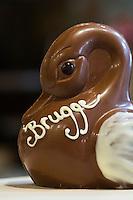 Belgium, Bruges, Belgian chocolate duck