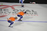 SPEEDSKATING: CALGARY: Olympic Oval, 30-11-2017, ISU World Cup training, Koen Verweij (NED), Sven Kramer (NED), ©photo Martin de Jong