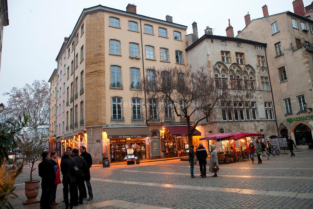 Place du Change, Vieux Lyon, France, 15 January 2012