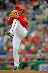 13 April 2008: Washington Nationals' pitcher Tim Redding on the mound against the Atlanta Braves at Nationals Park, in Washington, DC. The Nationals ended their 9-game losing streak by defeating the Braves 5-4 in the last game of their 3-game series...Mandatory Photo Credit: Ed Wolfstein Photo