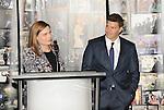 Emily Deschanel and David Boreanaz at the BONES 200th Episode Celebration held at FOX Studios in Los Angeles, CA. November 14, 2014.