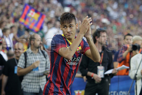 02.08.2013 Barcelona, Spain. Joan Gamper Trophee. Picture shows Neymar Jr. in action during game between FC Barcelona against Santos at Camp Nou