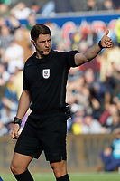 Referee Robert Jones in action during the Sky Bet Championship match between Swansea City and Cardiff City at the Liberty Stadium, Swansea, Wales, UK. Sunday 27 October 2019